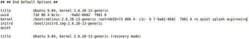 Imagen 2.- GRUB, Kernel Modificado
